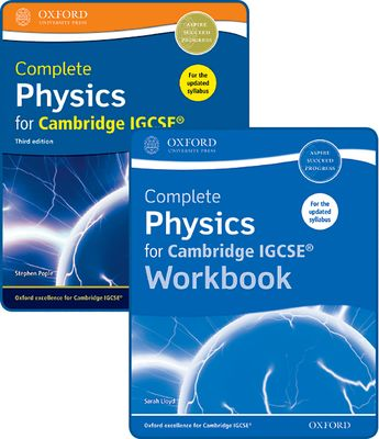 Complete Physics for Cambridge IGCSE Student Book and Workbook Pack by Stephen Pople