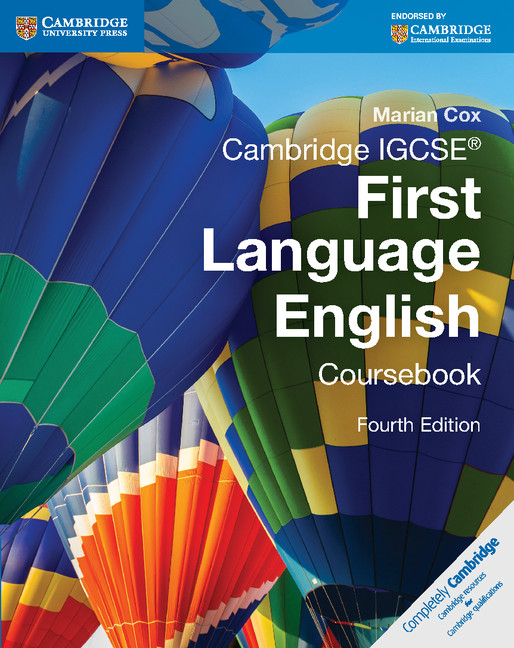 Cambridge IGCSE First Language English Coursebook by Marian Cox