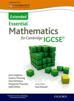 Essential Mathematics for Cambridge IGCSE Extended by June Haighton