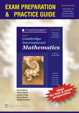 Cambridge International Mathematics IGCSE 0607 Extended: Exam Preparation and Practice Guide by Keith Black