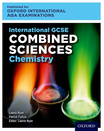 International GCSE Combined Sciences Chemistry for Oxford International AQA Examinations: Online and Print Textbook Pack - Lawrie Ryan