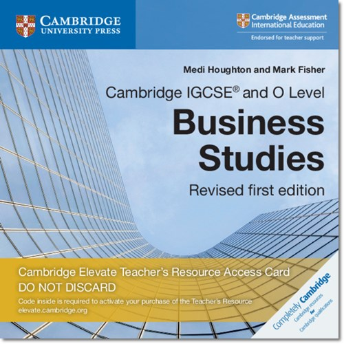 Cambridge IGCSE (R) and O Level Business Studies Revised Cambridge Elevate Teacher's Resource Access Card - Medi Houghton