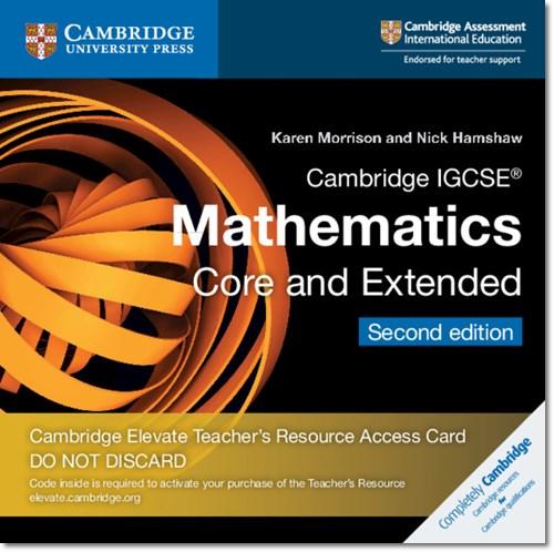 Cambridge IGCSE (R) Mathematics Core and Extended Cambridge Elevate Teacher's Resource Access Card - Karen Morrison